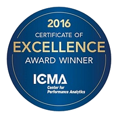 2016 ICMA Exellence Award Winner